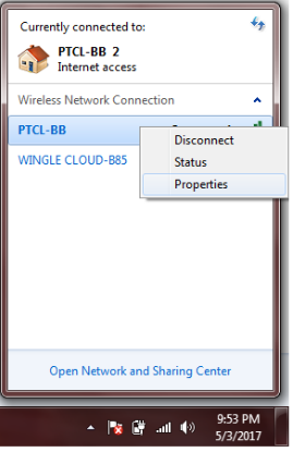 Wi-Fi password of your windows 7