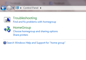 Create a HomeGroup in Windows 7