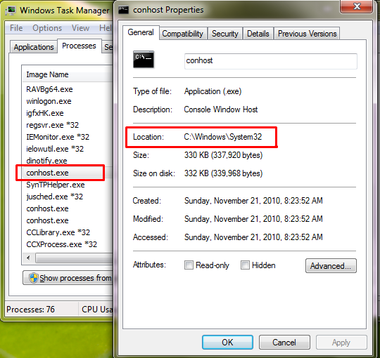 What is conhost.exe? Is conhost.exe a Virus and why is it Running on my PC?