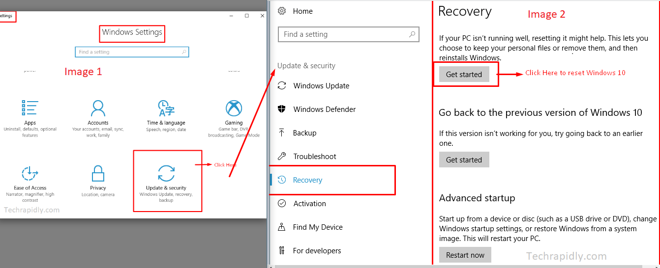 How to repair or reset Windows 10 to factory Settings