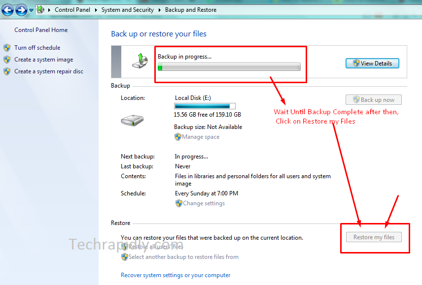 Restore your files and folders from Backup