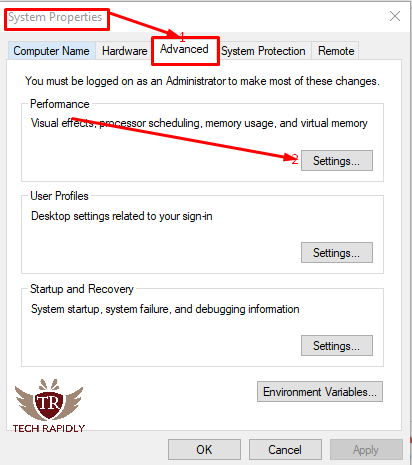Change Visual effects in Windows 10 for Better Performance