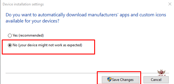 Stop Windows 10 automatic drivers updates