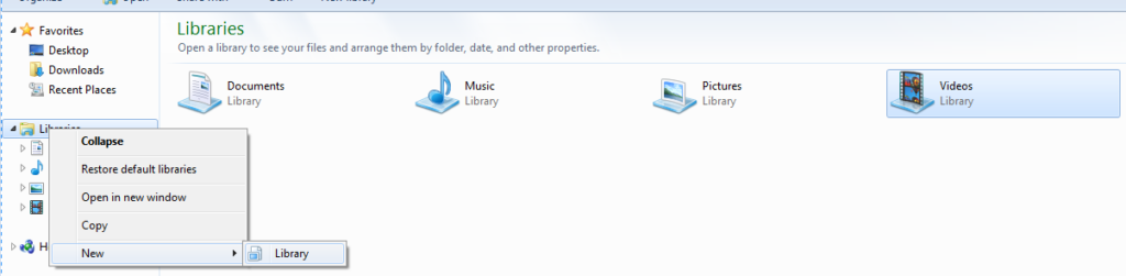 Windows 7 Libraries not Working How to Remove Libraries From Windows 7