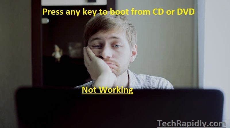 Press any key to boot from CD or DVD not working in Windows 7