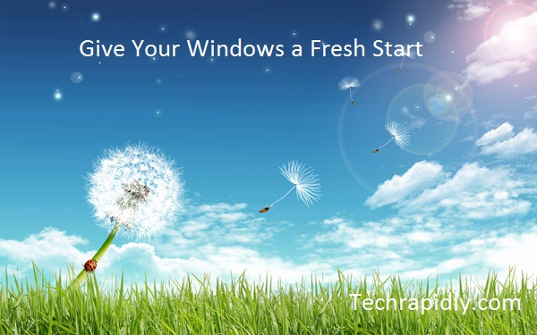 Reinstall Clean Refresh Windows 7