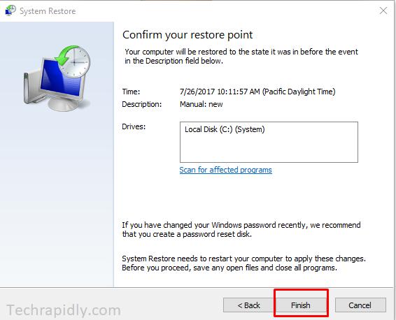 repair Windows 10 or System restore windows 10
