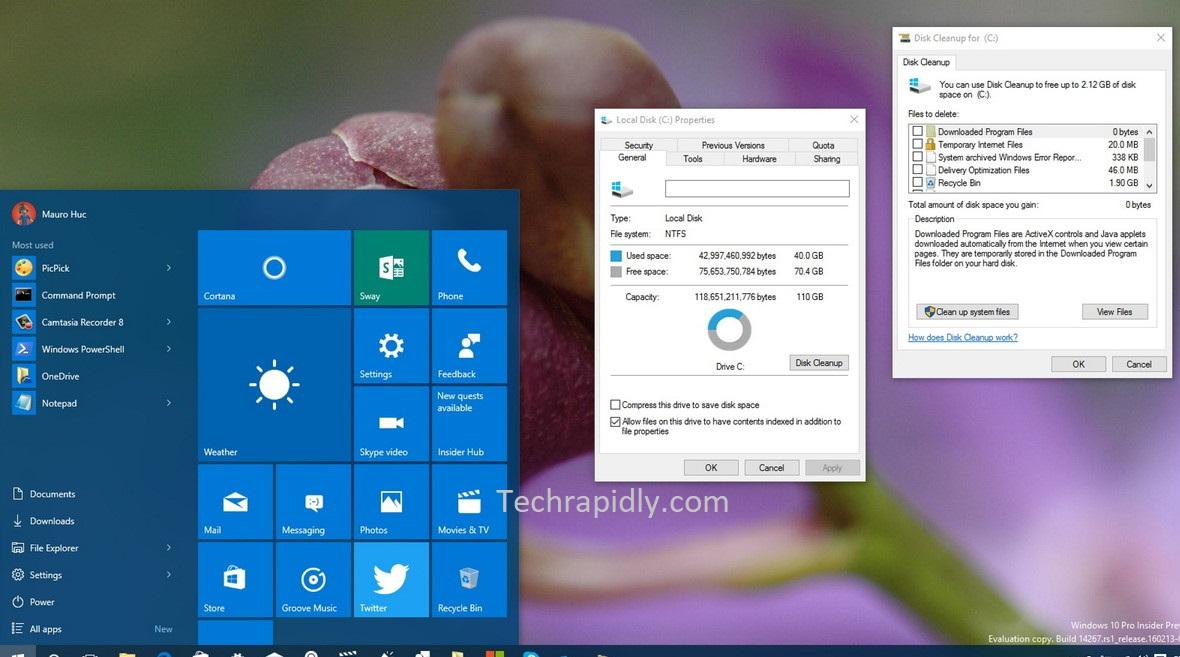 delete windows.old folder from Windows 10