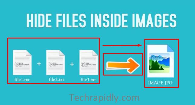 hide files inside an image file JPG