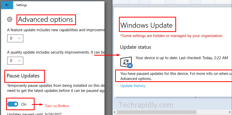 stop and disable Windows 10 updates