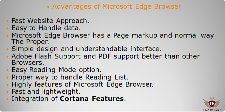 All Microsoft Edge Browser Advantages