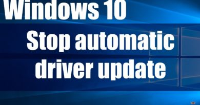 How to Stop Windows 10 automatic drivers updates(Video Included)