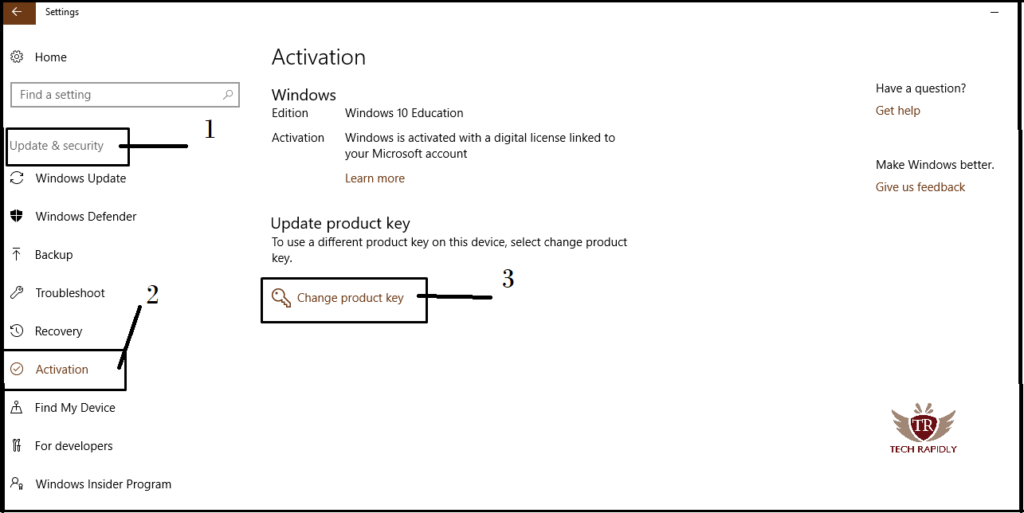 how to activate windows 10 without product key
