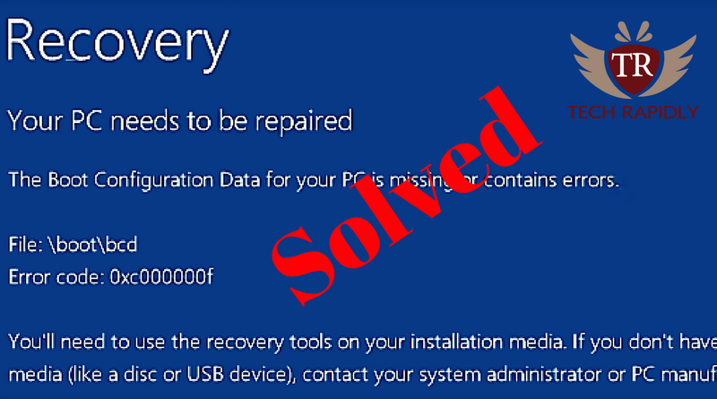 Fix Windows 10 error code 0xc00000f