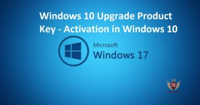 Windows 10 Upgrade Product Key - Activation in Windows 10