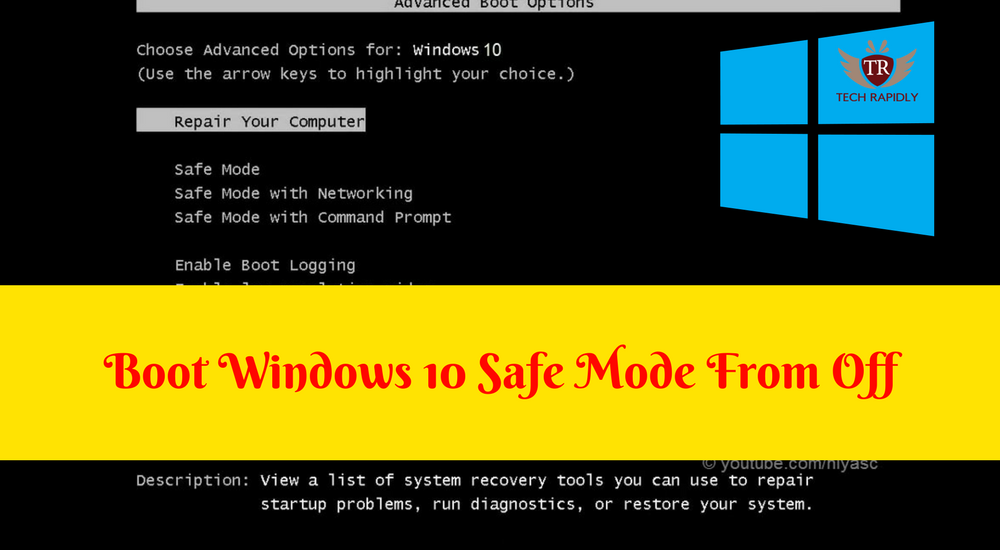booting windows 10 in safe mode
