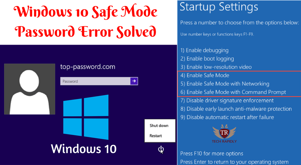 Windows 10 Safe Mode Password Incorrect Solution [100%Fixed]