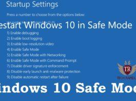 Restart Windows 10 in Safe Mode