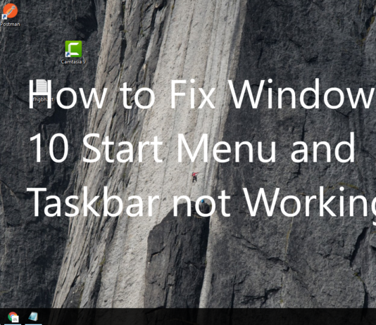Windows 10 Start Menu and Taskbar not Working