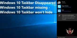 Windows 10 Taskbar Disappeared