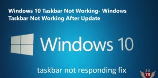 Windows 10 Taskbar Not Working 2018 - Windows 10 Taskbar Not Working After Update