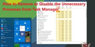 How to Remove or Disable the Unnecessary Processes from Task Manager
