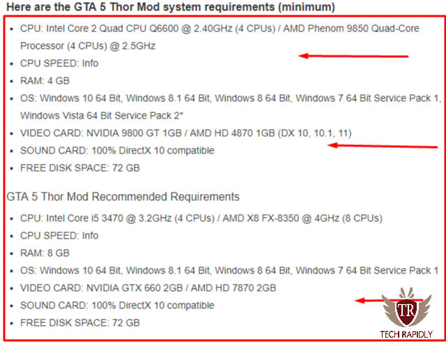 gta 5 minimum requirements