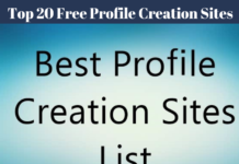 Top 20 Free Profile Creation Sites 2019 Free Profile Creation Sites List 2019 High PR Profile DoFollow Sites